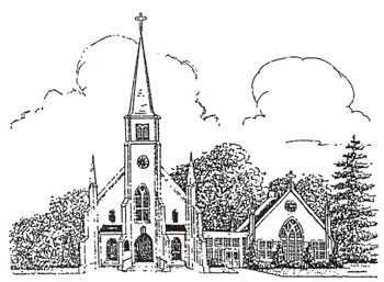 Current Church - Pen and Ink Drawing